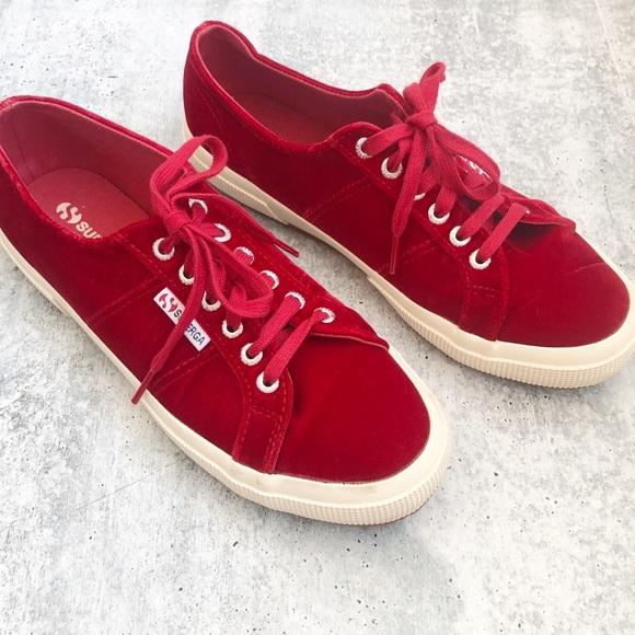 Superga Red Velvet Sneakers | Poshmark